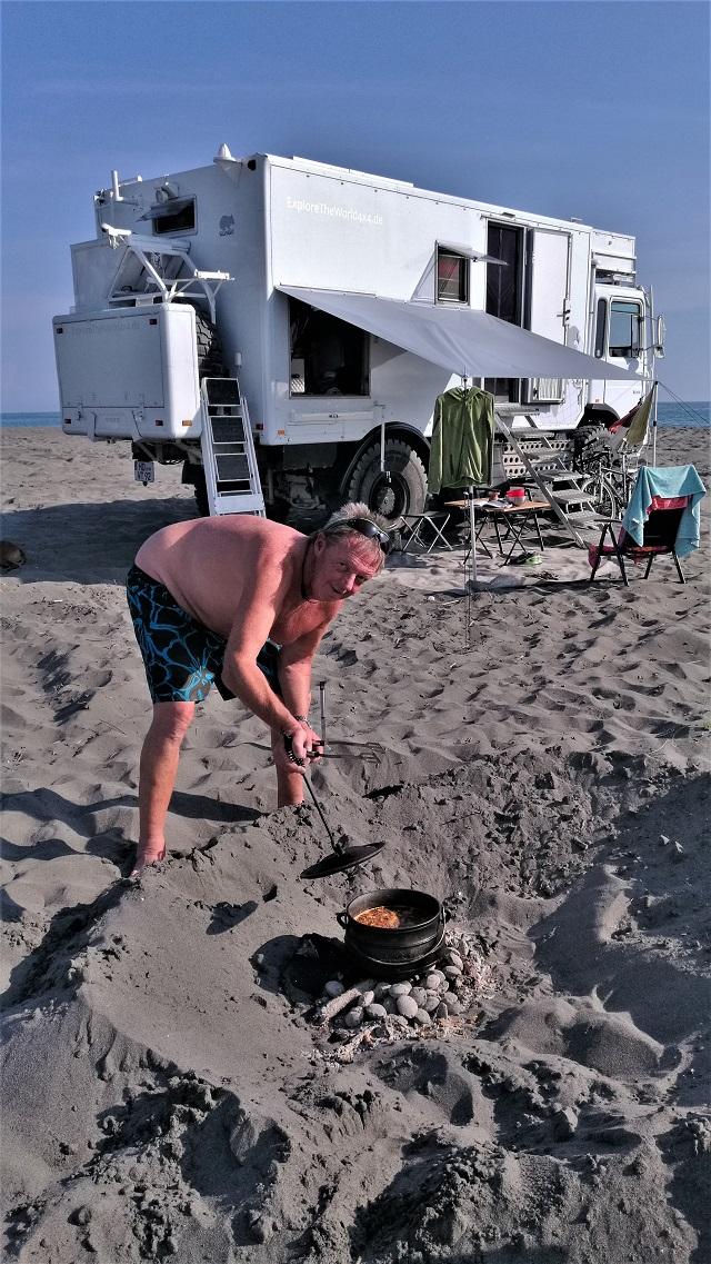 Versteckte kamera am strand